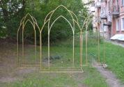 Фигурная металлическая арка